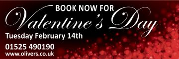 Book now for Valentineâs Day banner